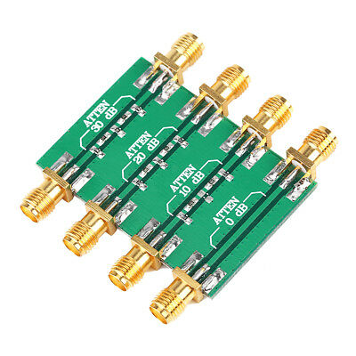 DC--4.0GHz RF Radio Frequency Attenuator Low SWR Impedance 50Ω SMA Double Female