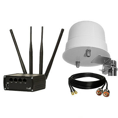 Teltonika RUT950 Mobile 4G/LTE Modem Router + 12dBi Outdoor Antenna + 2,5m Cable