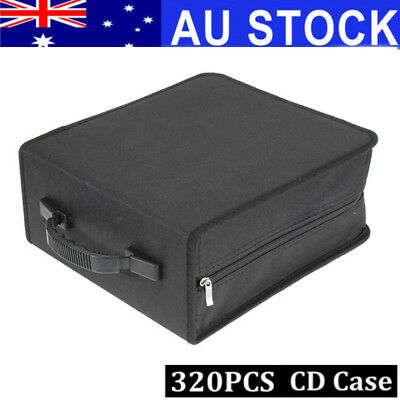 320Pcs Large Capacity Discs CD VCD DVD Bag Case Storage Holder Carry Organizer
