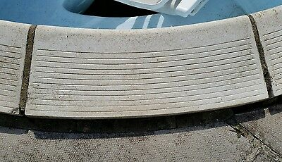 Certiken swimming pool copings roman end curved X 8
