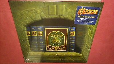 Saxon Solid Book Of Rock 14 Disc Deluxe Book Set Signed Edition 500 Only