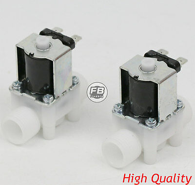 "1/2"" 12V DC Electric Solenoid Valve, Normally Open, N/O,water etc 2 PCS"