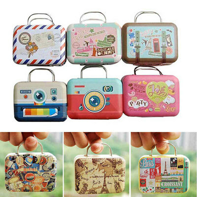 1:12 Dollhouse Miniature Vintage Travel Suitcase Box Case Toys Color Random Kit
