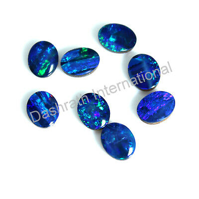 Australian Boulder Opal Doublet Cab 3X5 Mm To 10X12 Mm Oval Multi Color Gemstone