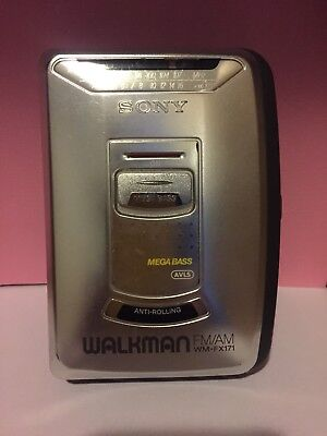SONY WM-FX171 AM/FM Stereo Walkman Cassette Player - Tested And Working