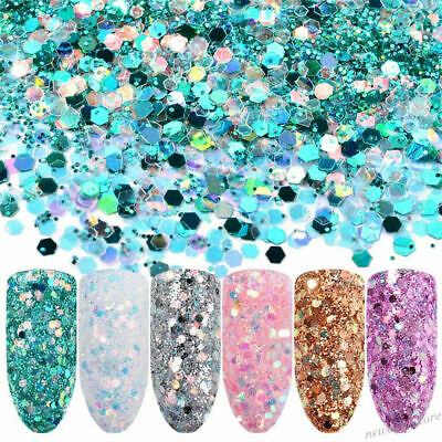 LOTS Colorful Glitter Sequins Powder Nail Art Eye Shadow Face Body Stage Makeup