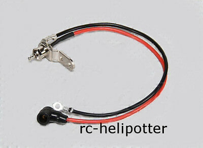 Annealing Glow Plugs Remote Connection for Heli or Aeroplane with minus cable