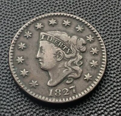 1827 United States large one cent coin.