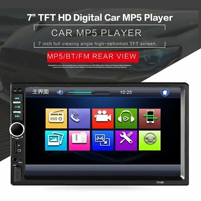 "7018 2DIN Car DVD Bluetooth 7"" Radio Audio MP5 Player LCD Display Touch Screen"