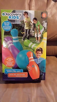 New, Nrfb - Discovery Kids Inflatable Jumbo Pins  7 Piece Bowling Set - 3+
