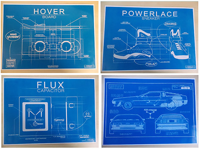 Back To The Future RARE - Hover Board - Flux Capacitor - Powerlace Blueprints
