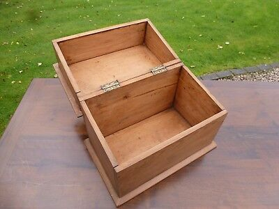 Small Vintage Pine Stationary Collectors Box