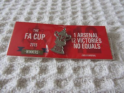 Arsenal FA Cup Winners Pin Badge - New and Sealed