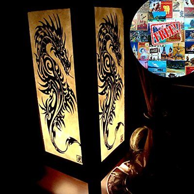 Black Iron Dragon Table Lamp Lighting Shades Floor Desk Outdoor Touch Room Asian