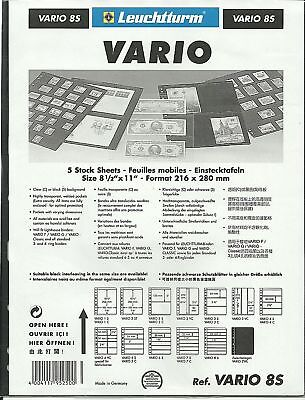 VARIO STAMP ALBUM STOCK SHEETS BLACK PAGES BUYERS CHOICE Selection Pack of 10