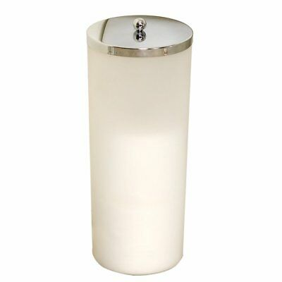 Zenna Home 7668K, Toilet Paper Canister, Frosted