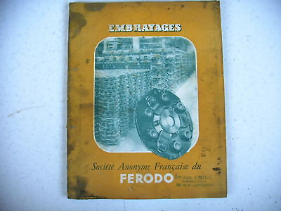 catalogue ancien EMBRAYAGES FERODO