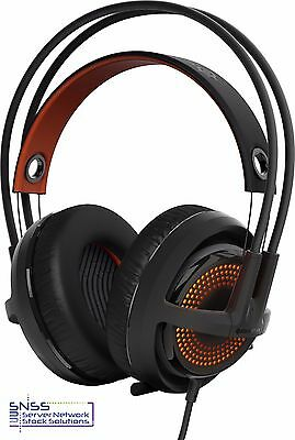 STEELSERIES Siberia 350 RGB 7.1 surround sound Over-ear Gaming Headset Black
