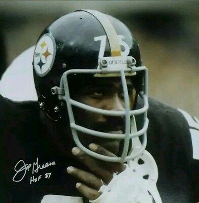 Joe Greene Autograph Photo RP