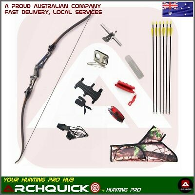 Recurve Bow Set Archery Takedown Bow Target Hunting RH shooting Youth Adults