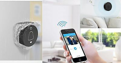 Smart WiFi Doorbell Video Camera Phone Ring Monitor + Indoor Chime + Rain Cover