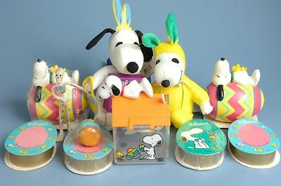 Vintage Whitmans Peanuts Gang Snoopy Easter Egg Piggy Bank Toys Bunny Lot Of 9