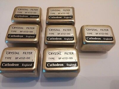 Crystal Filters Cathodeon Bp4112-00 Used. Bulk Buy Quantity 7