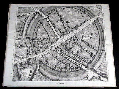 The Ground Plot Of The British Temple Now The Town Of Avebury Map Stukeley 1724