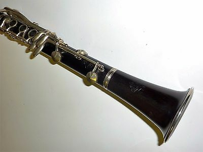 BEAUTIFUL VINTAGE G. LEBLANC III PARIS WOODEN Bb CLARINET wt BOOSEY MOUTHPIECE