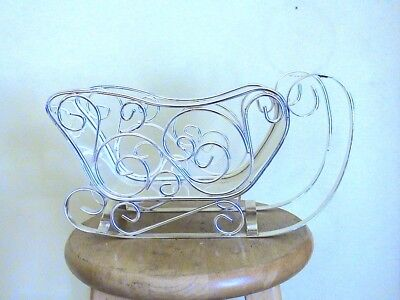 Decorative Silvertone Metal Sleigh. Great For Creating A Holiday Display.