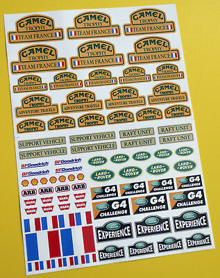 RC Rock Crawler 'CAMEL TROPHY TEAM FRANCE' 10th scale stickers decals RC4WD D90