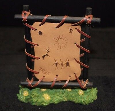 Enesco 1997 Friends of the Feather Leather Drying with Symbols Display - EC