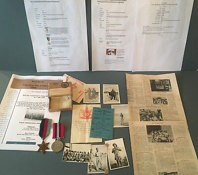 WW2 POW group Stalag 398 pupping Austria, medals box, photo's Sherwood Foresters