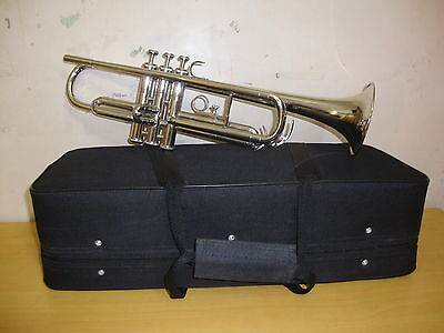 NEW VALUEABLE STUDENTS FOR SALE! CHROME Bb FLAT TRUMPET FREE CASE+7C MOUTHPIECE