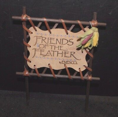 Enesco Friends of the Feather Sign Display with Corn - EC