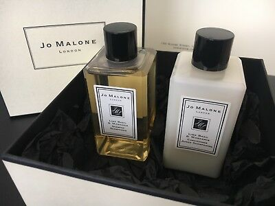 Jo Malone Lime Basil and Mandarin SHAMPOO and CONDITIONER 100ml Each Boxed