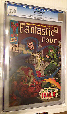 CGC 7.0 Fantastic Four #65 *1st app Ronan the Accuser!*Guardians of the Galaxy!*