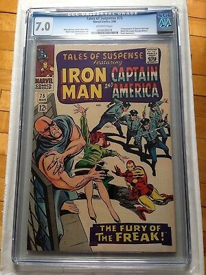 CGC 7.0 Tales of Suspense #75 *1st App. Sharon Carter & 1st Batroc the Leaper*