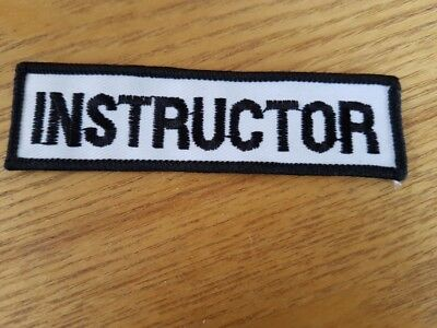 Cloth Instructor badge/patch