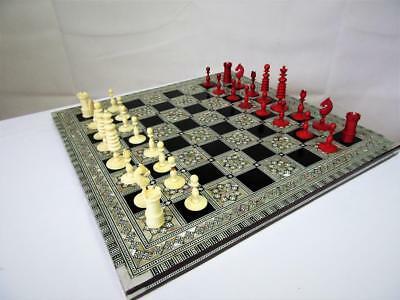"""Vintage Large Islamic Chess Board M.op. Inlay 15.75"""" -Chessmen Not Included"""
