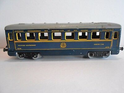 WAGON VOITURE RESTAURANT HORNBY MECCANO 4218 Echelle O / TOYS DINING CAR