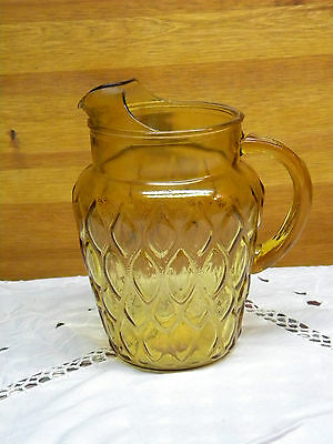 Vintage Water Pitcher with Honeycomb Design