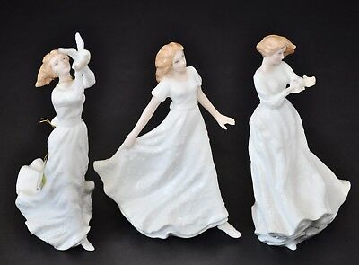 ROYAL DOULTON SENTIMENTS 3x LOT FRIENDSHIP THINKING OF YOU  THANK YOU FIGURINES