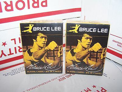 LOT OF 2 DECKS - Bruce Lee Photos playing cards brand - NEW & SEALED - FREE SHIP