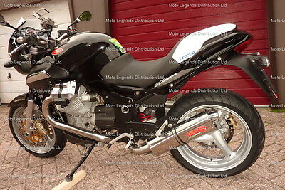 Moto Guzzi 1200 Sport Exhaust Stainless Tri Oval by GPR. Made in Italy 2v Head