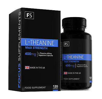 L-Theanine |  400mg |  120 Capsules |  High Strength |  Promotes Calm and Focus