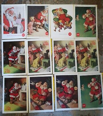 Lot of 73 Coca-Cola Coke Ads from National Geographic 1940's-1960's
