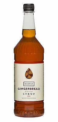 Simply Luxury Natural Flavour Sirup Gingerbread 1L, Lebkuchen,Weihnachten,Kaffee