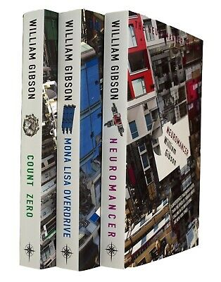 William Gibson Neuromancer Sprawl Trilogy 3 Book Sci Fi Distopian Cyber Punk New