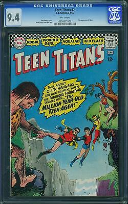 Teen Titans #2 CGC 9.4 White Pages
